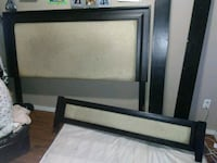 black and white wooden bed frame Regina, S4T 1Y9