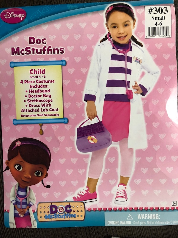 Halloween Costume 303.Doc Mcstuffins Halloween Costume Size Small 4 6