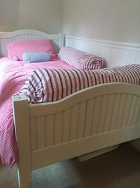 Twin size bed and IKEA mattress - bed rails available  Vienna, 22042
