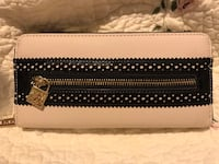 black and white leather wallet Madison Heights, 24572