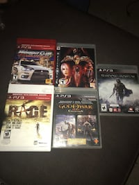 Set of 5 PS3 games