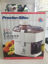 Proctor Silex 2 speed Juicer in Box Richmond, V6X 1P5