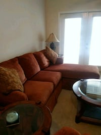 Rust sectional sofa, chair, coffee & 2 end tables Woodbridge, 22191