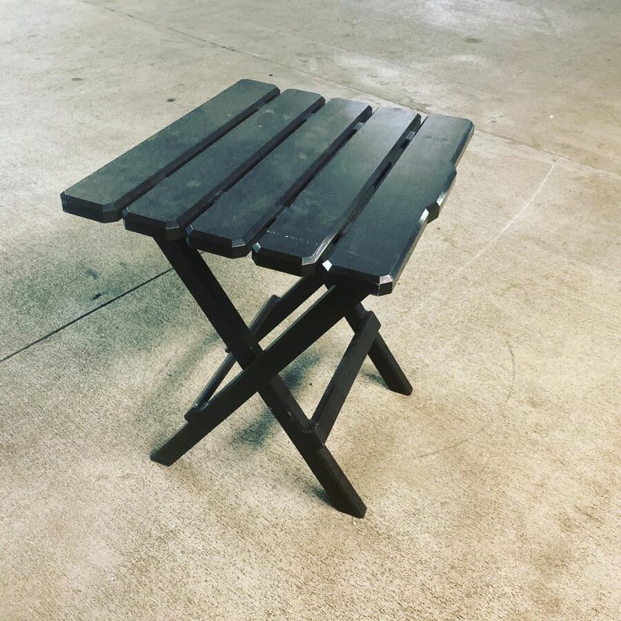 Plastic side table bench