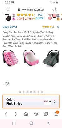 2 baby covers  Châteauguay, J6J 1B7