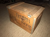Vintage Antique Olympia Beer Wooden Box St Louis Park