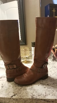 Pair of Cognac boots from Nine West