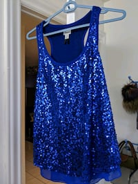 Dynamite blue sequin top M Montreal