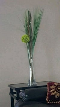 green and white artificial flower decor Chestermere, T1X 1S5