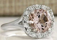 Morganite and silver ring Size 6 Charlotte, 28273