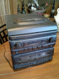AM&FM radio, turn table, duel cassette player