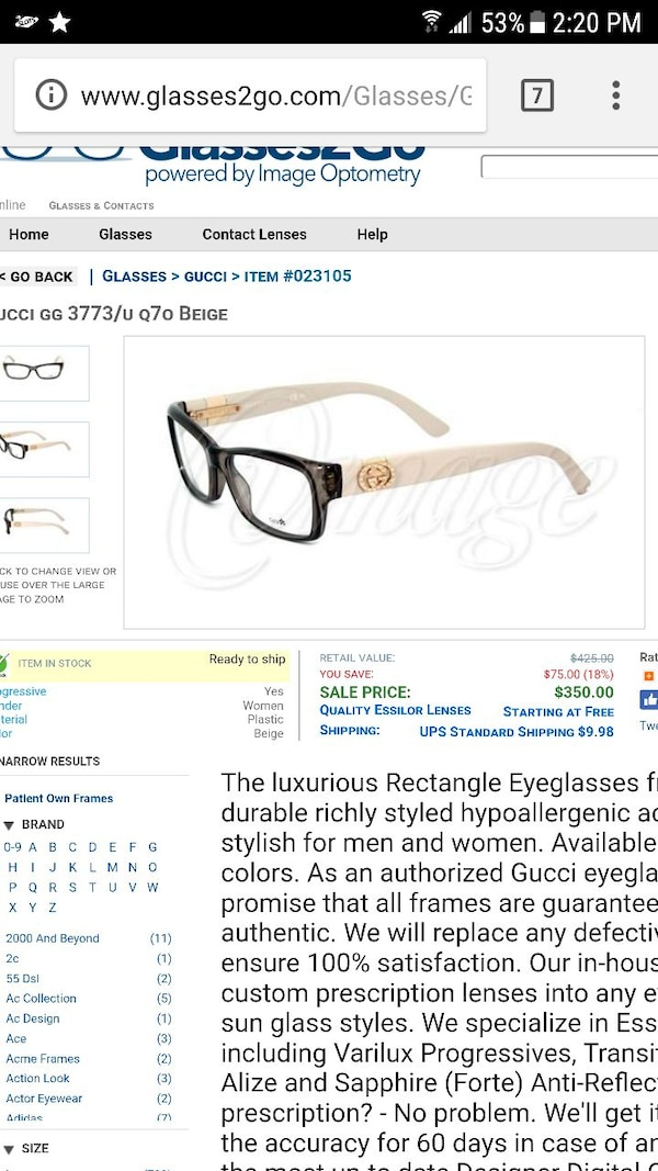 e1ad93eb4814 Used Womens gucci eyeglass frames for sale in Victoria - letgo