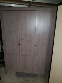 Ikea Hemnes Triple Wardrobe Closet - Grey Colour Burnaby