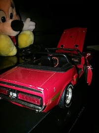 classic red convertible coupe die-cast