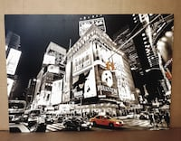 Large New York Time Square decoration print *Excellent Condition* Vancouver