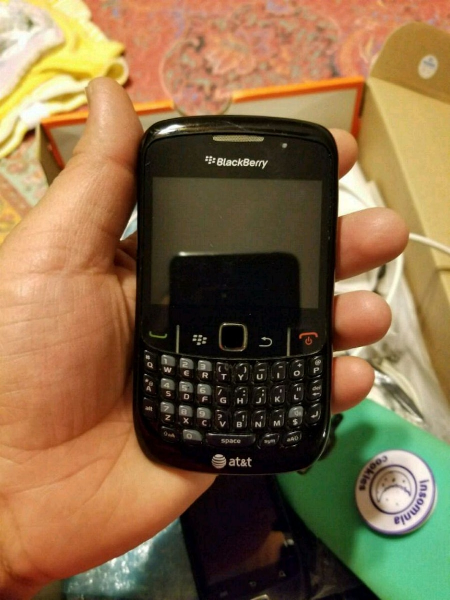 black BlackBerry qwerty phone with box for sale  New York