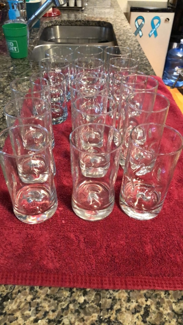 9 drinking glasses