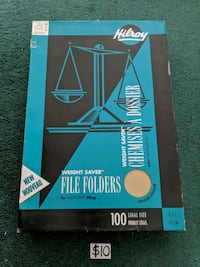 Hilroy Legal-Size File Folders 100 Mississauga, L5M 4S9