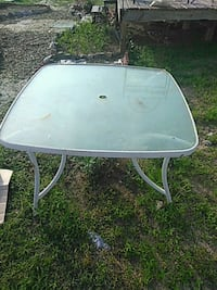 rectangular white metal framed glass top patio table Hephzibah, 30815