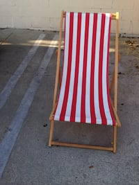 white and red striped folding chair Culver City, 90230