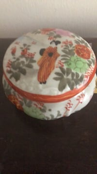 white, red, and green floral ceramic bowl New York, 10021