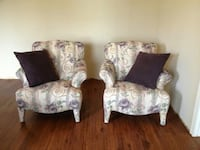 Upholstered Fabric Winged Back Chairs Ballwin, 63011