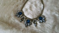 silver and blue gemstone necklace Toronto
