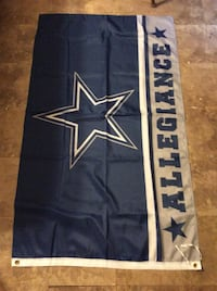 blue and white Dallas Cowboys banner