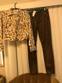 New Cheetah hip jacket & Brown jeans Fresno, 93704