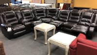 Black - Brown Sectional Available reclining recliner  Jacksonville, 32246