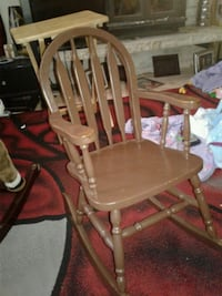 brown wooden windsor rocking chair Seattle, 98106