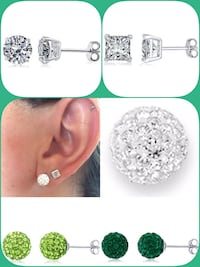 Stud earrings 925 sterling silver Laval, H7W 4H5