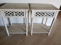 **Pair of Distressed End Tables** Centreville, 20120