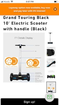 gyrocopters grand touring Smart balance wheel electric scooter Toronto, M1T 1R8
