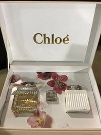 white and clear glass Chloe perfume bottles with box Abbotsford, V3G 2B6