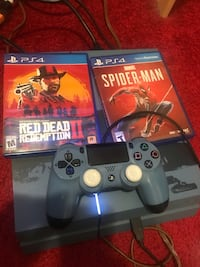 PlayStation 4 with two games one controller and all the cords  Takoma Park, 20912
