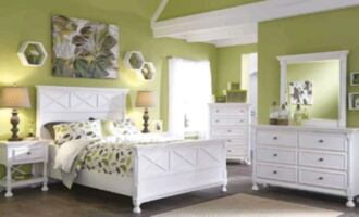 Brand New White 4 Piece Bedroom Set for Best Price!39$ Down