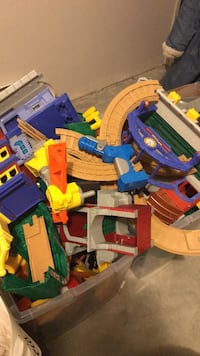 Huge box of Fisher Price Geo Trax (discontinued)