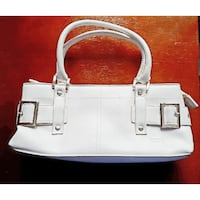 white leather handbag Milton