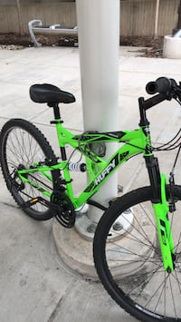 green and black Salcano hardtail mountain bike Vienna, 22180