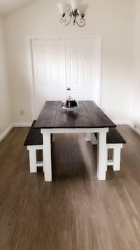 Custom made Farmhouse table with benches Rancho Cucamonga, 91701