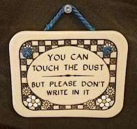 Genuine Trinity Pottery You Can Touch The Dust But Don't Write In It F Las Vegas