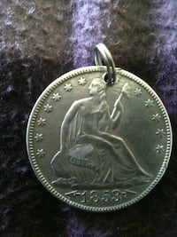 Real seated liberty solid silver coin from 1853  Albuquerque, 87110