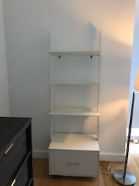 White leaning bookcase New York, 10036