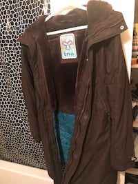 TNA jacket brown missing fur very warm just will be cleaned before sell Toronto, M3C 1E8