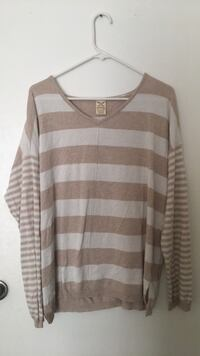 brown and white striped sweater Montgomery Village, 20886