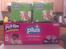Pull-Ups and diapers size 6
