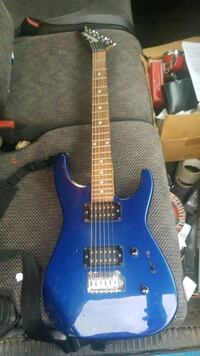 jackson 6 string electric guitar blue