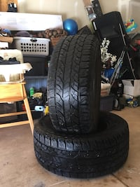 2 Yokohama tires LT325-60R20  Colorado Springs, 80923