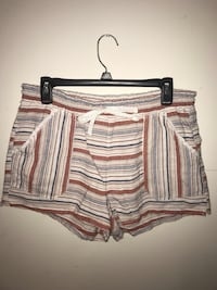 Women's white and brown stripe shorts Bluemont, 20135